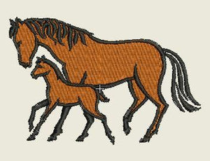 Horse and Colt Embroider Patch - EH Patches