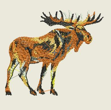 Moose Embroider Patch - EH Patches
