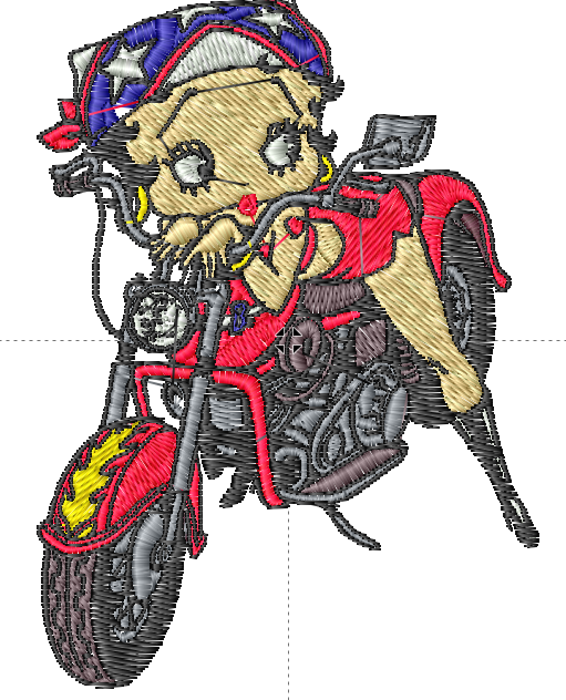 Betty Boop Riding Motorcycle