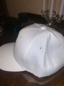 White Ladybug Embroidered Cap