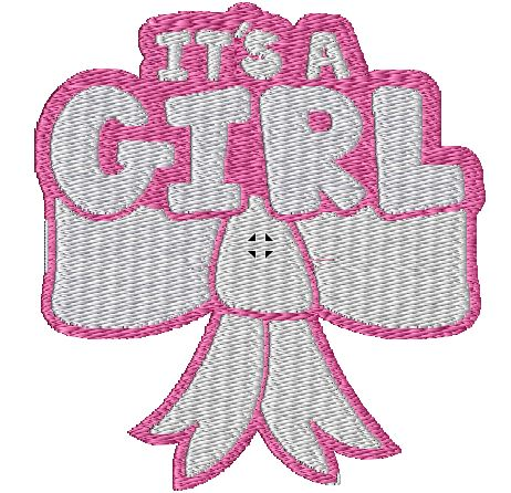 Its A Girl Iron on Patch