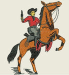 Cowboy on Horse Embroidered Patch - EH Patches