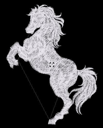 Rearing White Horse Embroidered Patch