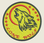 Load image into Gallery viewer, Lone Wolf embroidered Iron On Patch - EH Patches