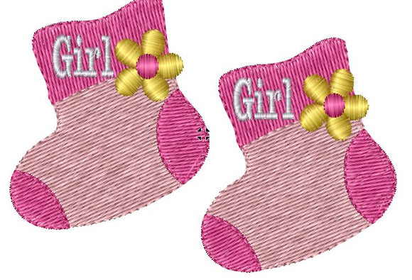 Baby Girl Booties Iron on Patches