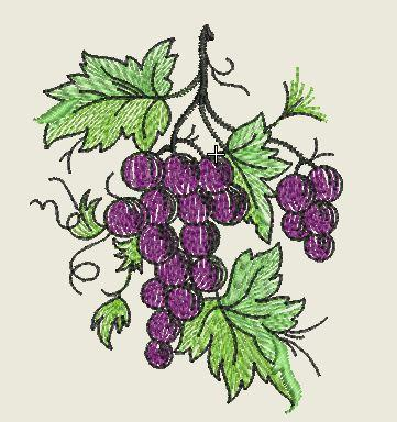 Grapes Embroidered Patch - EH Patches