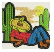Cactus Sleeping Man Embroidered Patch - EH Patches