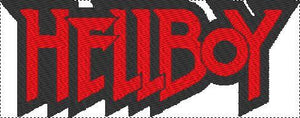 Hellboy Black and Red Embroidered Patch - EH Patches