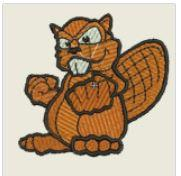 Fighting Squirrel Embroidered Patch - EH Patches