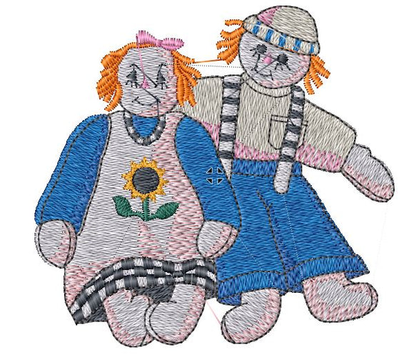 Raggedy Ann and Andy Iron on Patch