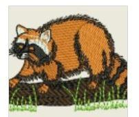 Raccoon Embroider Patch - EH Patches