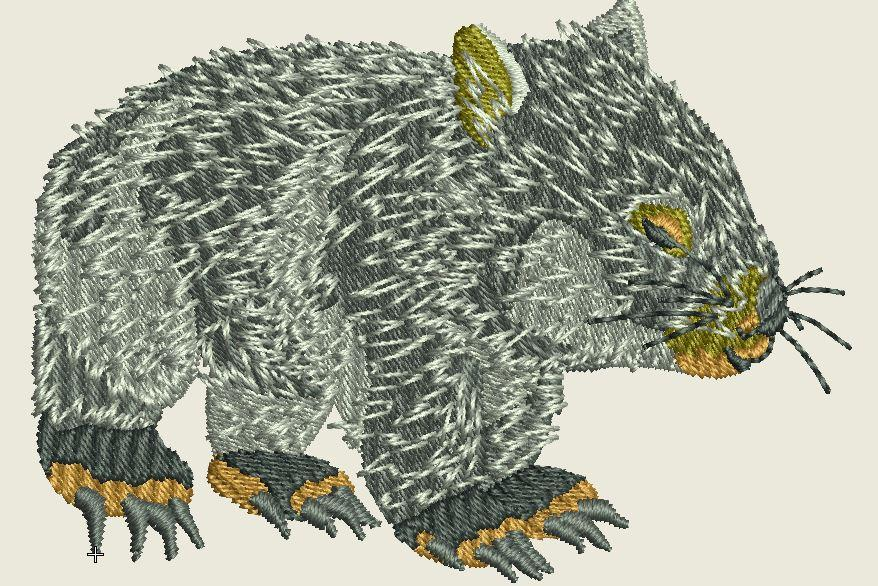 Wombat Embroider Iron On Patch - EH Patches