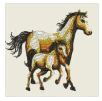 Colt and Mare Embroidered Patch - EH Patches