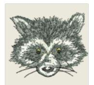 Racoon Face Embroidered Patch - EH Patches