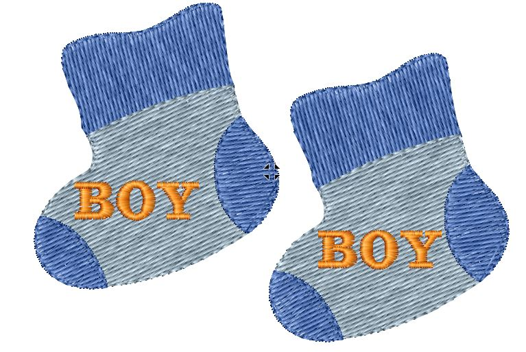 Baby Boy Booties Iron on Patch