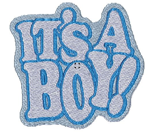 Its A Boy Iron on Patch