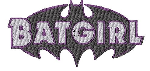 Batgirl Embroidered Iron On Patch