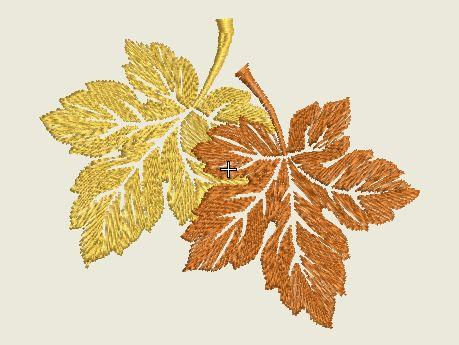 Fall Leaves Embroidered Patch - EH Patches