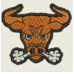 Angry Bull Embroidered Patch - EH Patches