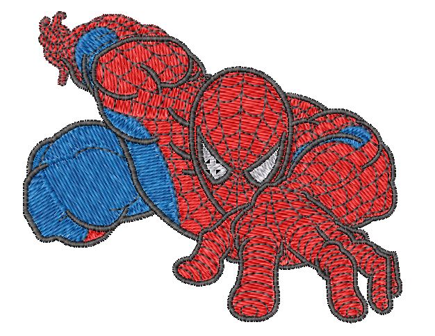 Crawling Spiderman Embroidered Iron On Patch