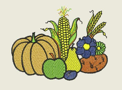 Fall Harvest Embroidered Patch - EH Patches
