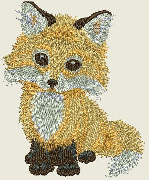 Baby Fox Embroider Iron On Patch - EH Patches