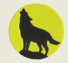 Load image into Gallery viewer, Round Yellow Wolf No Border Embroidered Patch - EH Patches