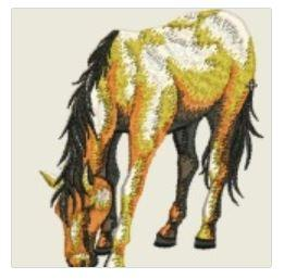 Horse Eating Embroidered Patch - EH Patches