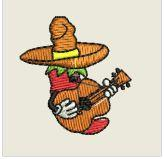 Hot Pepper Playing Guitar Embroidered Patch - EH Patches