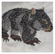 Australia Wombat Embroidered Iron On Patch - EH Patches