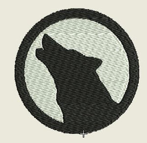 Wolf Howling Embroidered Patch - EH Patches