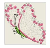 Butterfly Lace Embroidered Patch - EH Patches