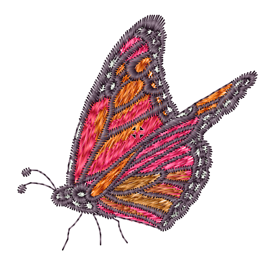 Pink and Gold Butterfly