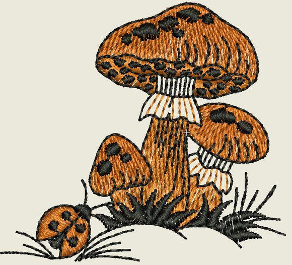 Mushrooms Embroidered Patch - EH Patches