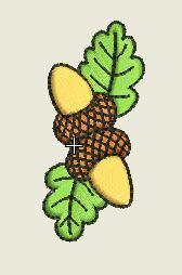 Nuts and Leaves Embroidered Patch - EH Patches