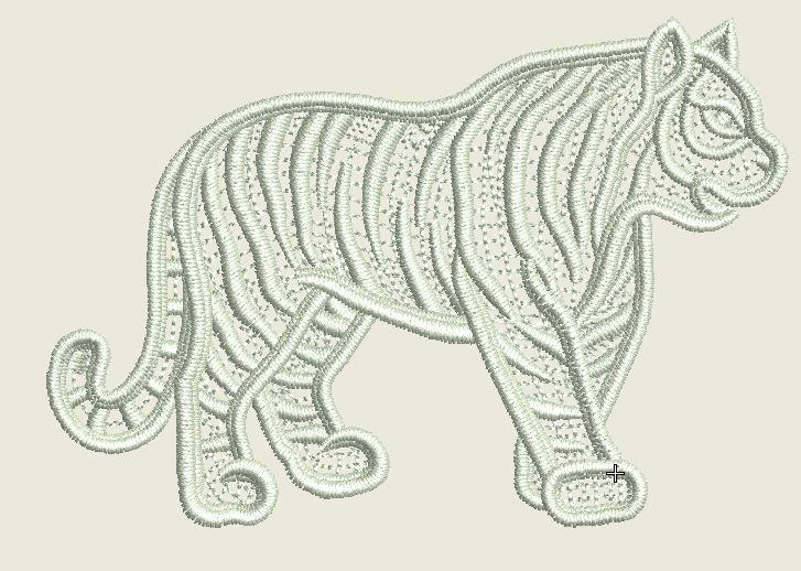 Lace Tiger Embroidered Patch - EH Patches