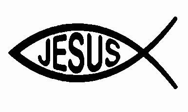 Jesus Fish Embroidered Iron On Patch - EH Patches