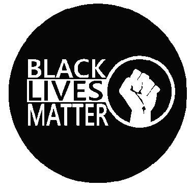 Round Black Lives Matter with Fist Embroidered Iron On Patch - EH Patches