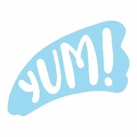 Yum Embroidered Iron On Patch - EH Patches