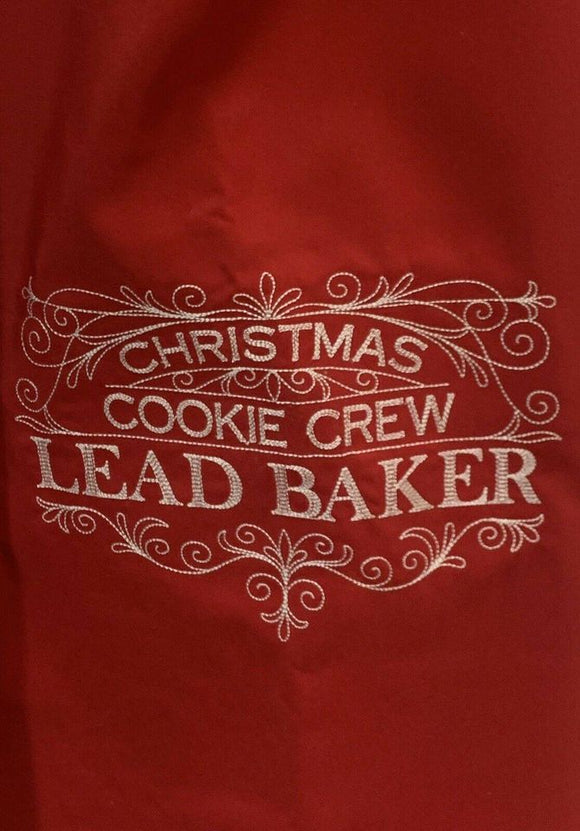 Christmas Cookie Crew Lead Baker Apron