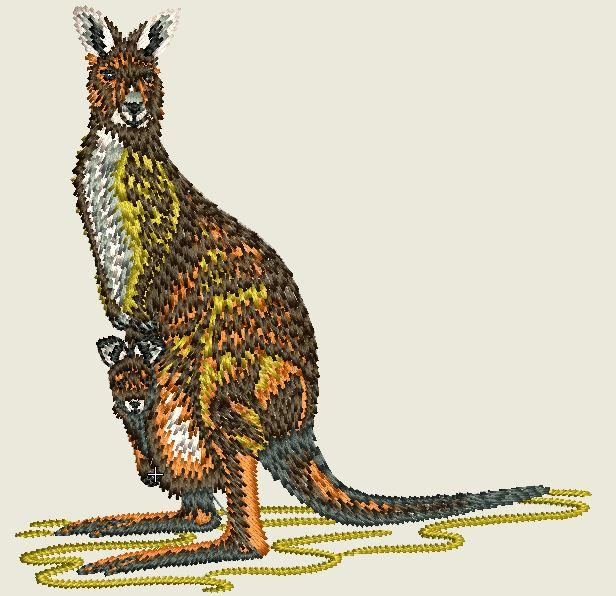 Kangaroo Embroider Patch - EH Patches