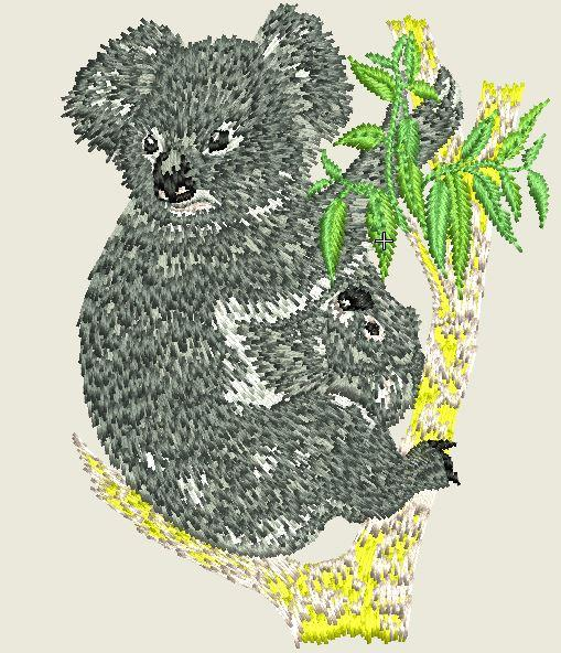 Koala Embroider Iron On Patch - EH Patches
