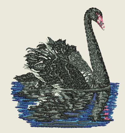 Swan Embroider Iron On Patch - EH Patches