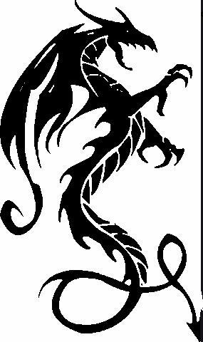 Black Dragon Embroidered Patch - EH Patches