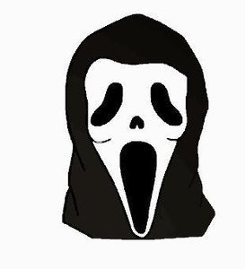 Ghost Face Embroidered Iron On Patch - EH Patches