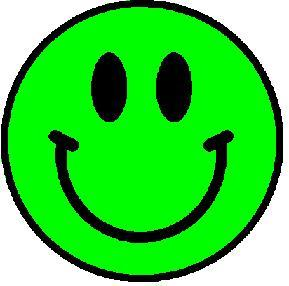 Green Smiley Face Embroidered Patch - EH Patches