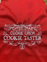 Load image into Gallery viewer, Christmas Cookie Crew Cookie Taster Kids Red Apron