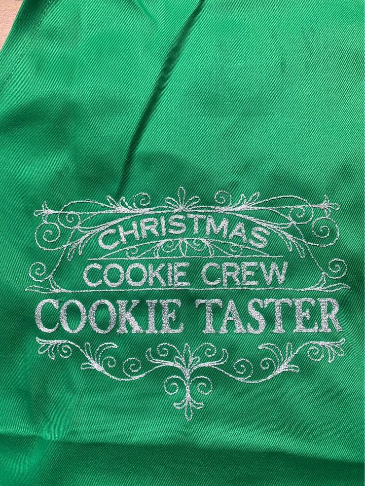 Green Kids size Cookie Taster Apron