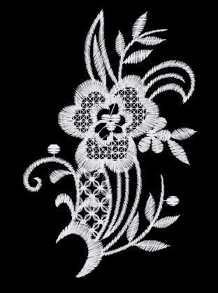 Pretty Lace Flower Embroidered Patch 003