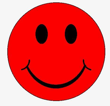 Red Smiley Face Embroidered Patch - EH Patches